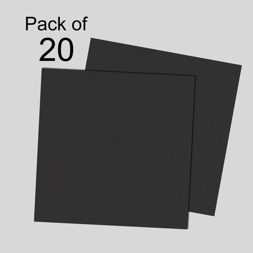 Black Card 240gsm 12x12 Pack of 20