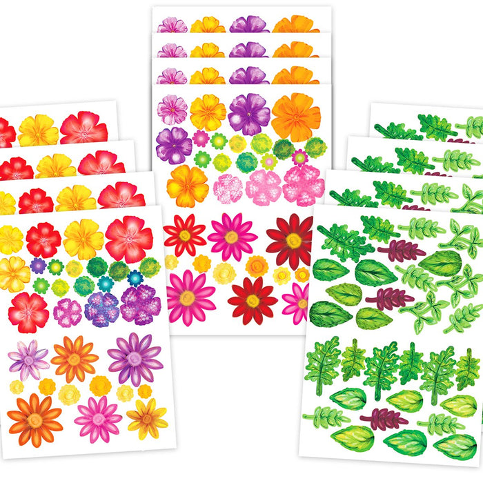 Bright Blossoms - Die Cut Flowers  & Leaves (Pack of 12)