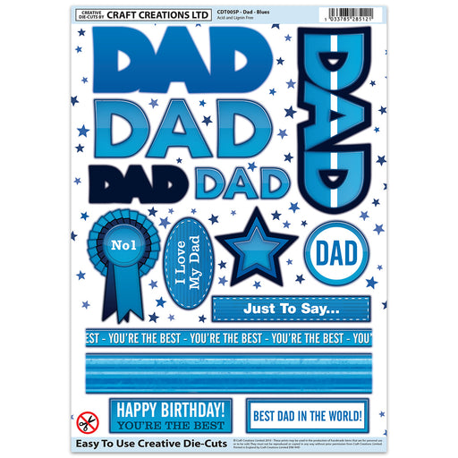 Die Cut Toppers - Dad Blues (Pack of 6)