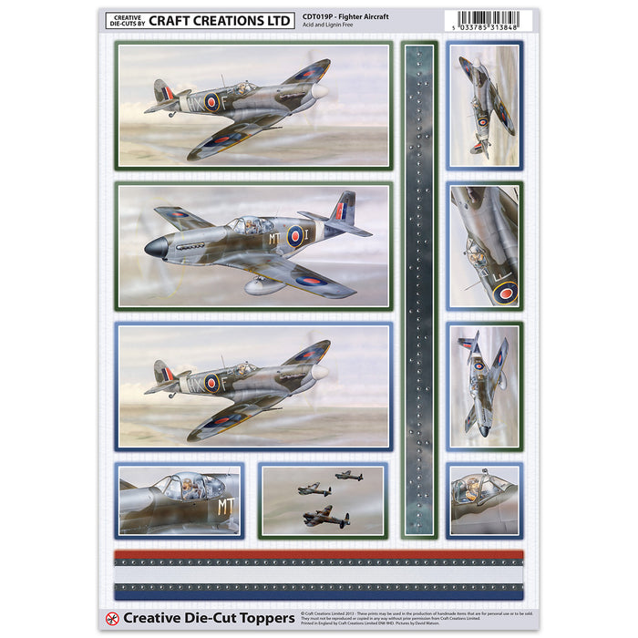 Die Cut Toppers - Aircraft (Pack of 6)
