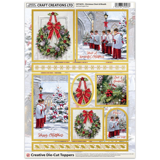 Die Cut Toppers - Christmas Choir (Pack of 6)