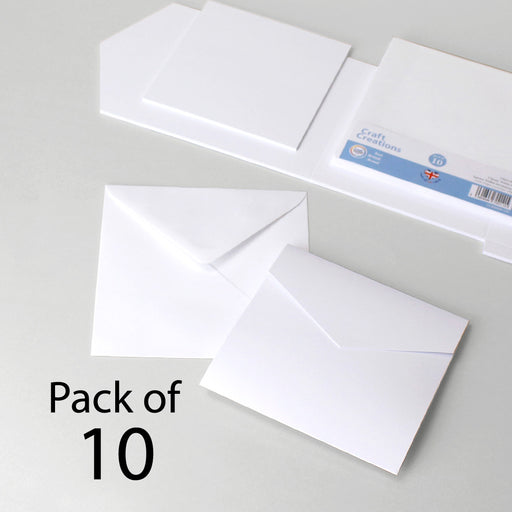 Classic White Card Square Wallet Invitation Set (Pack of 10)