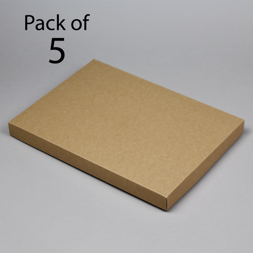 Card Boxes 218x304x25mm Brown Kraft card Box Pack of 5