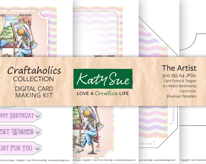 Craftaholics The Artist | Digital Card Making Kit