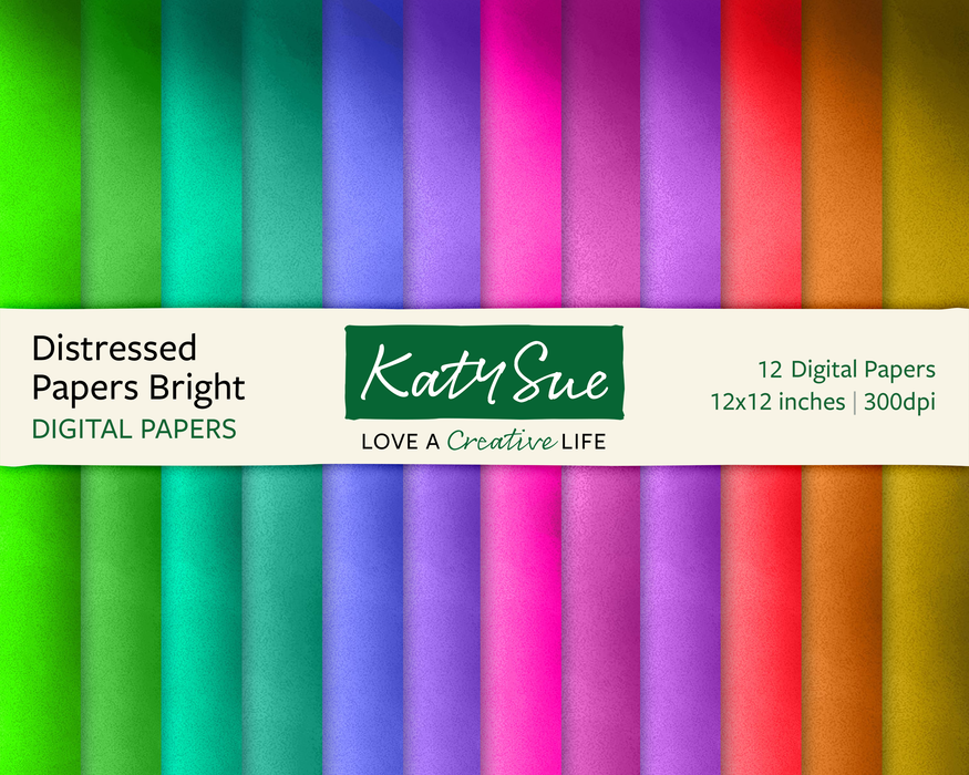 Distressed Papers Bright | 12x12 Digital Papers