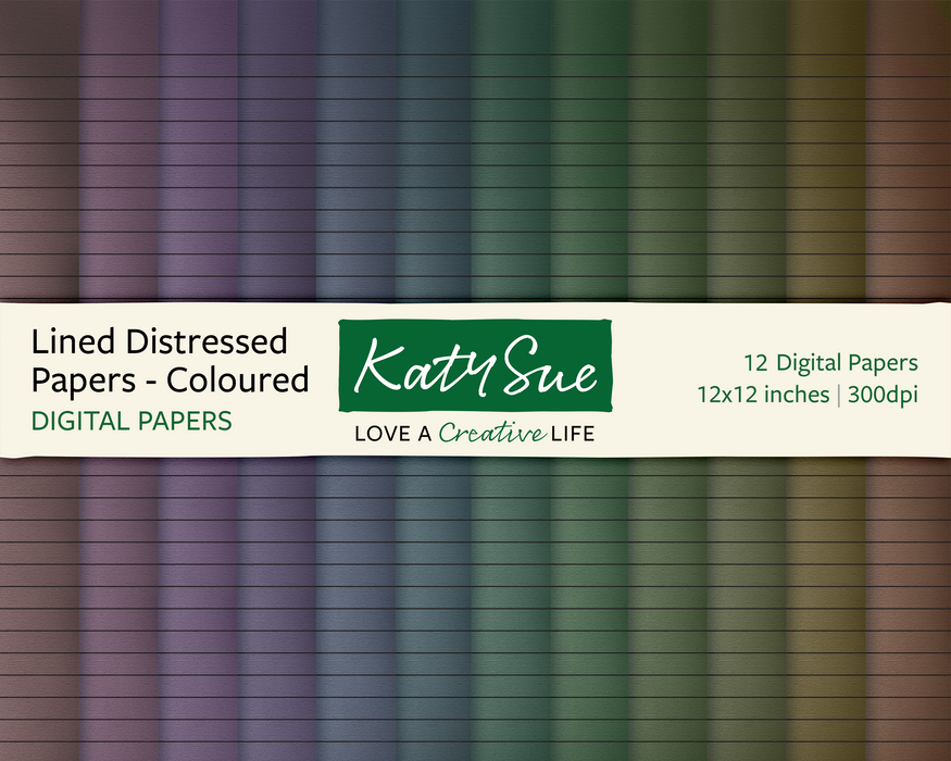Lined Distressed | 12x12 Digital Papers