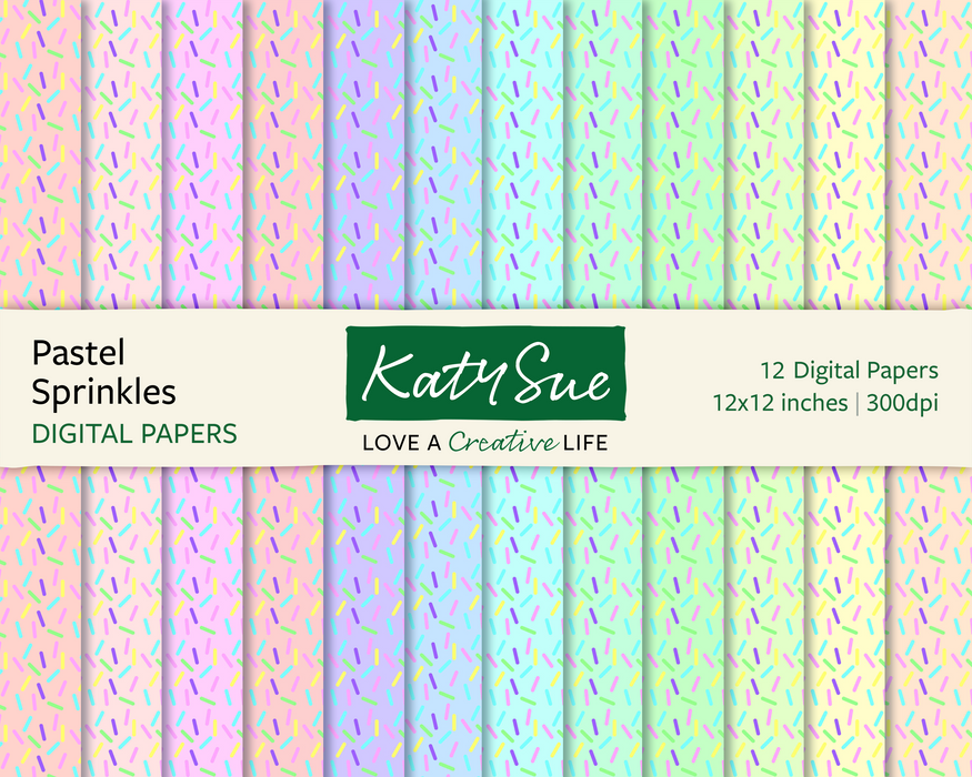 Pastel Sprinkles | 12x12 Digital Papers
