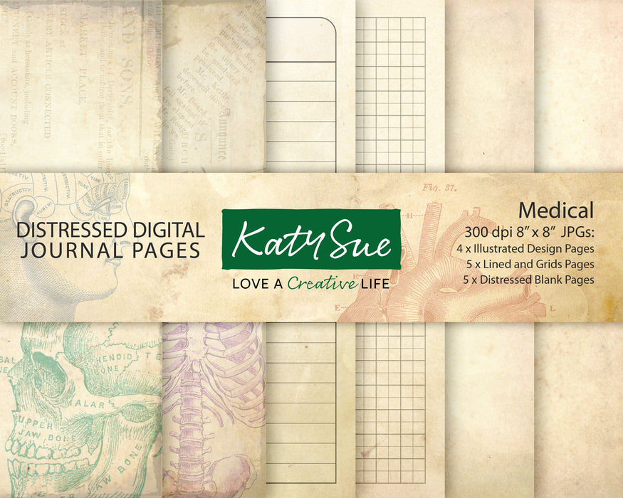 Distressed Medical | Digital Journal Pages