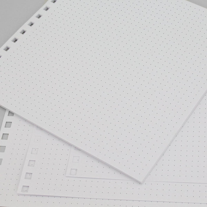 Build a Book 8 x 8 Pre Punched Essential Pages - Dotted - 24 Sheets - 157gsm white