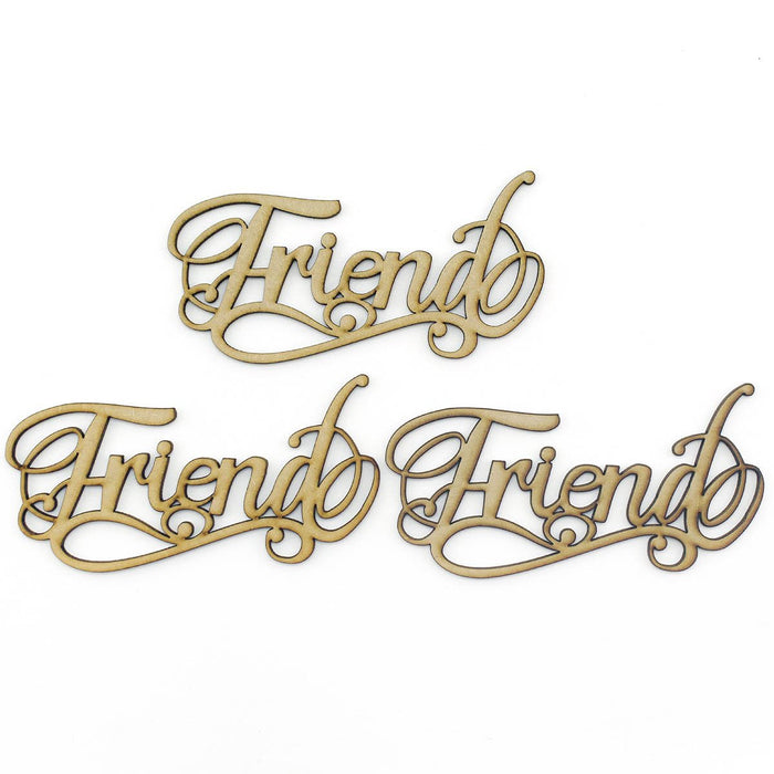 MDF Embellishment Words - Friend (Set of 3)