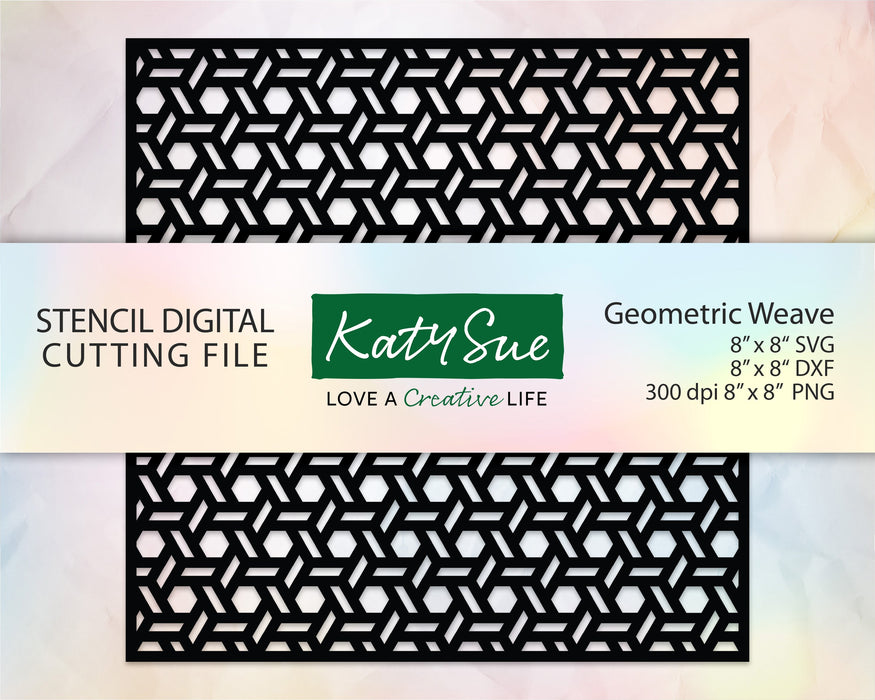 Geometric Weave Stencil | Digital Cutting File