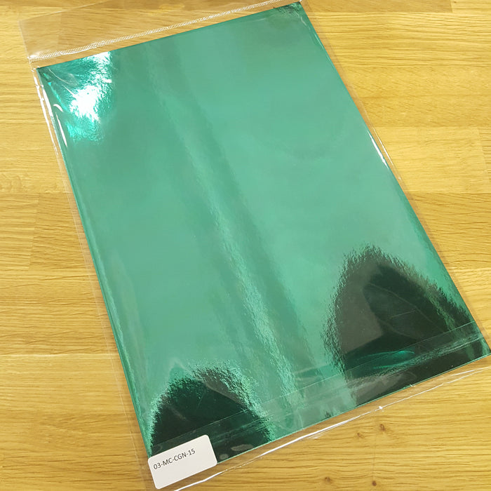 Christmas Green High Gloss Metallic Mirri Paper 110gsm A4 (Pack of 15)