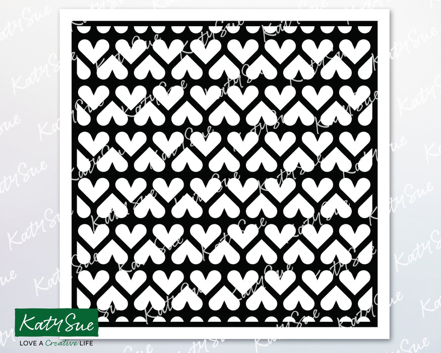 Heart Strips Stencil | Digital Cutting File