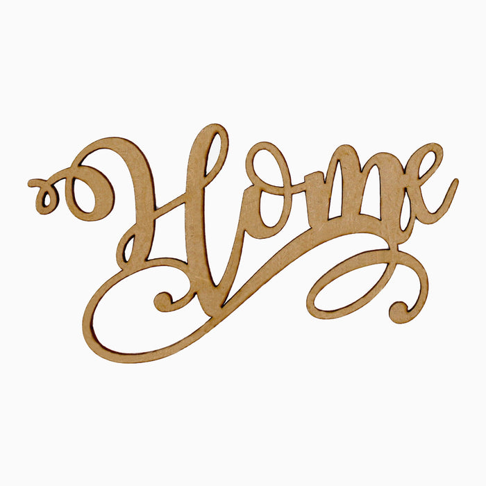 MDF Embellishment Words – Home (Set of 3)