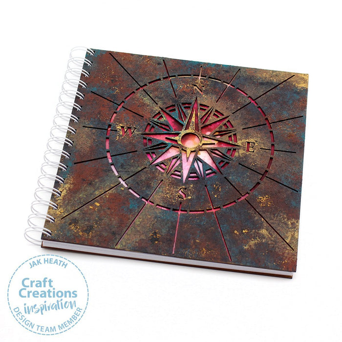 8 inch Square MDF Journals - Compass