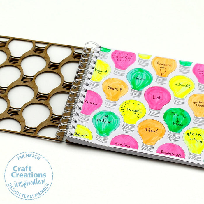 8 inch Square MDF Journals - Lightbulb Moments