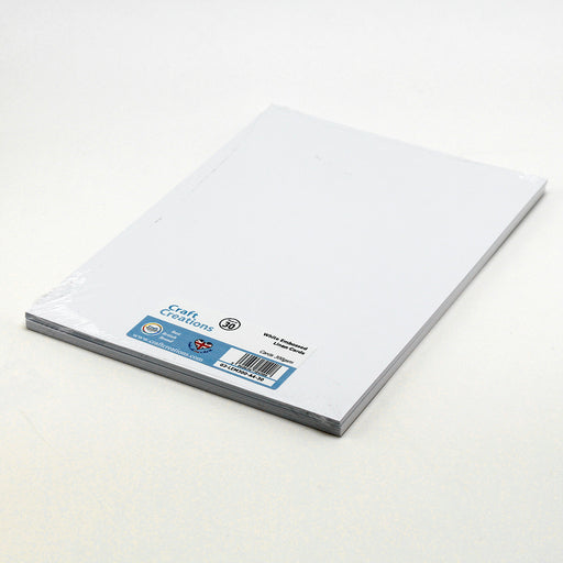 White Embossed 210mm x 297mm Linen Card 300gsm A4 (Pack of 30)