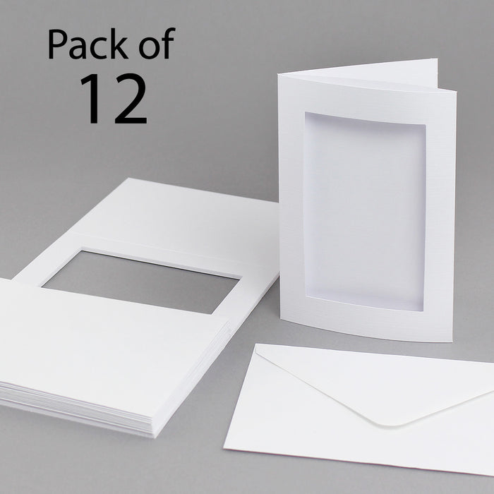 Classic White 152 x 104 Aperture Card & Envelopes (Pack of 12)