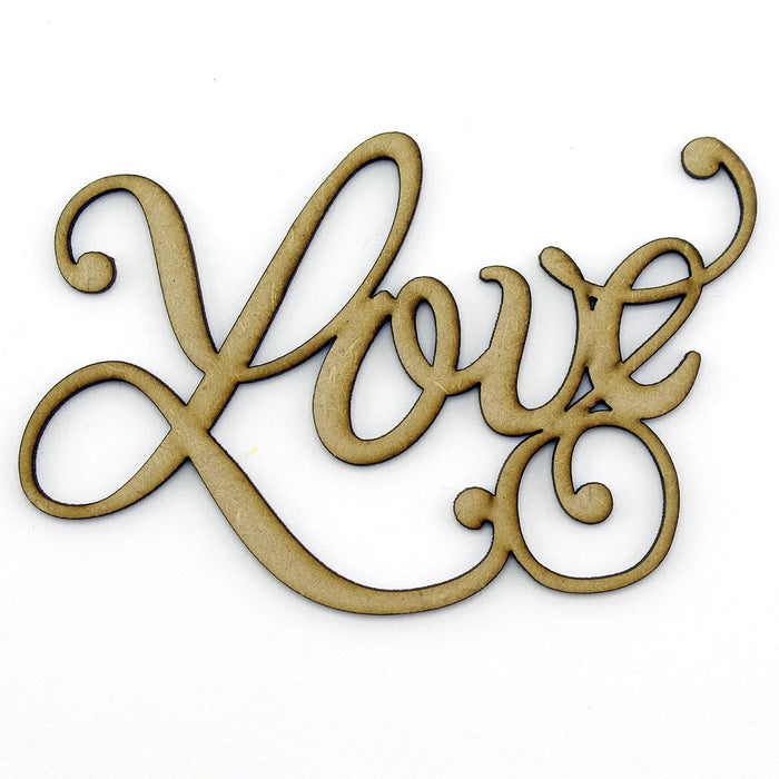 MDF Embellishment Words - Love, Friend, Believe (Set of 3)