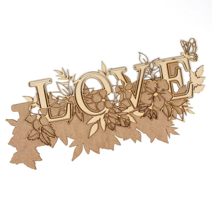 MDF Layered Art Words Love