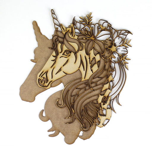 unicorn MDF Wood Layered Shapes