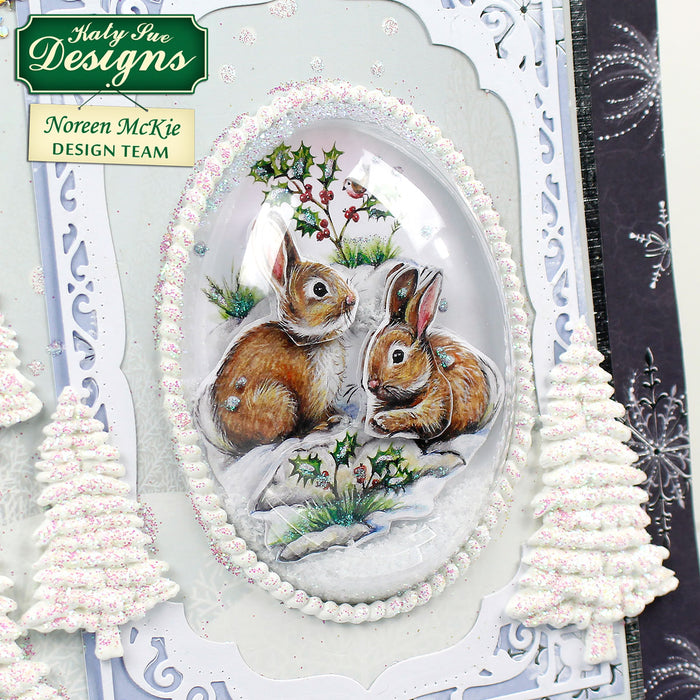 Snow Globe Winter Animal Scenes & Flower Soft Kit (Not Die Cut)
