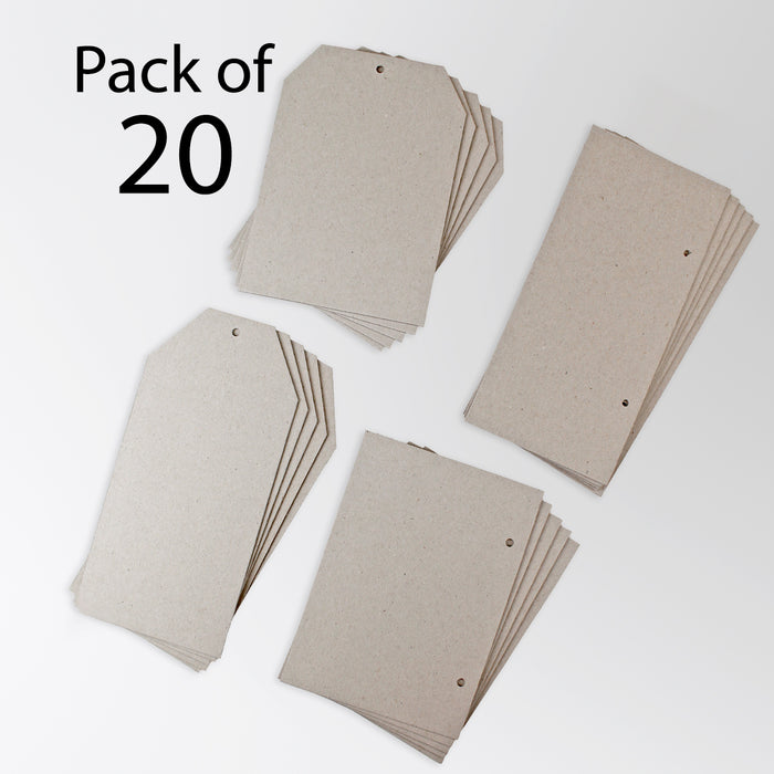 2mm Greyboard Tags & Plaques (Pack of 20)
