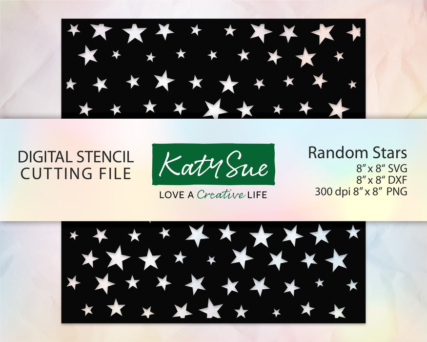Random Stars Stencil | Digital Cutting File