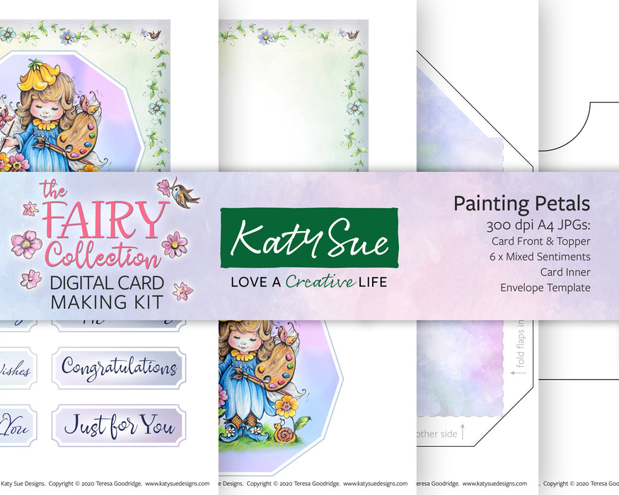 The Fairy Collection Painting Petals | Digital Card Making Kit