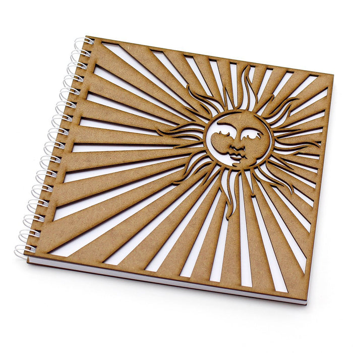 8 inch Square MDF Journals - The Sun