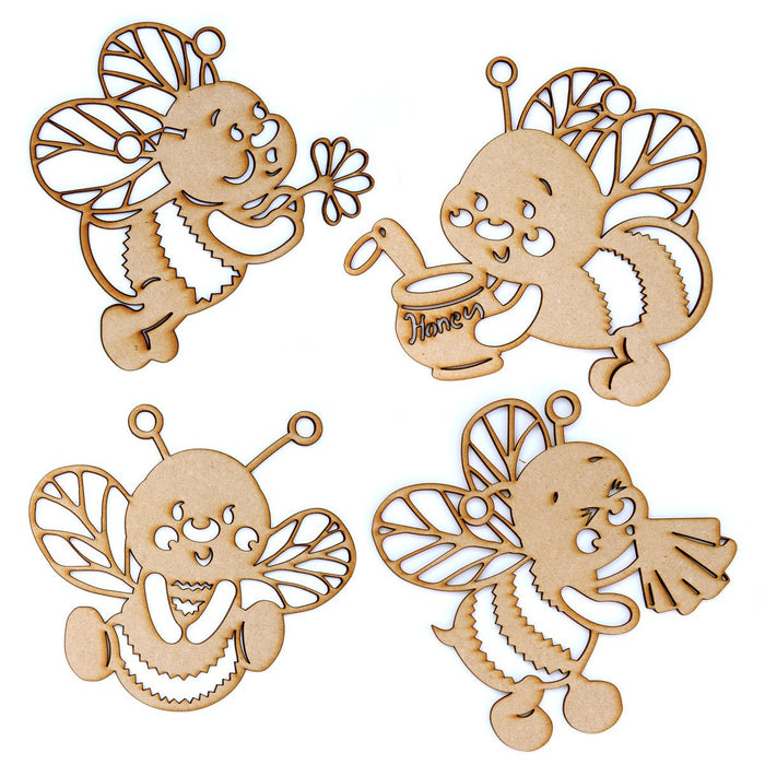 MDF Zuzz and Friends Bees (Pack of 4)