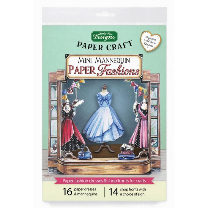 Mini Mannequin Paper Fashions | Paper Craft Pad (Not Die Cut)