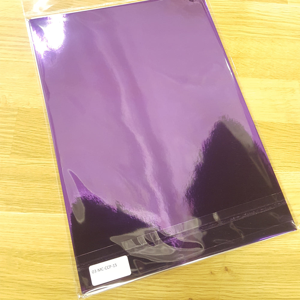 Cadburys Chocolate Purple High Gloss Metallic Mirri Paper 110gsm A4 (Pack of 15)