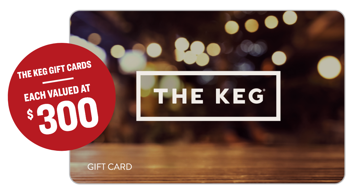 3 Early Bird Prizes of A $300 the keg gift card