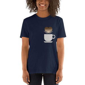 Urbandoks Dark Heather / S Coffee Love Short-Sleeve Unisex T-Shirt