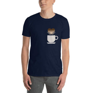 Urbandoks Navy / S Coffee Love Short-Sleeve Unisex T-Shirt