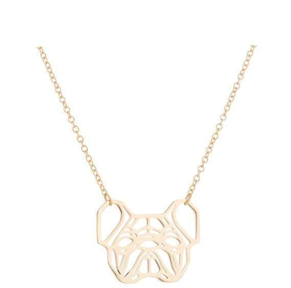 Urbandoks Necklace Gold Frenchie-love Necklace