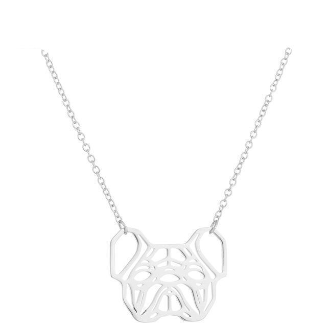 Urbandoks Necklace Silver Frenchie-love Necklace
