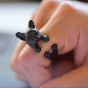 Urbandoks Ring Antique Iron Frenchie-love Ring
