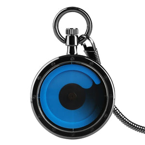 Urbandoks Watch 1X Black Blue Timewarp Pocket Watch