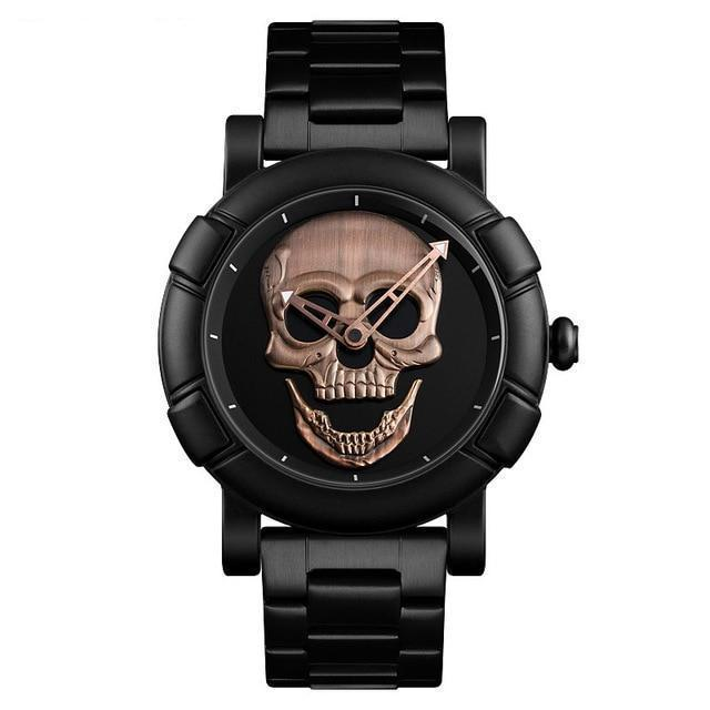 Urbandoks Watch Copper Skull Embossed Wristwatch