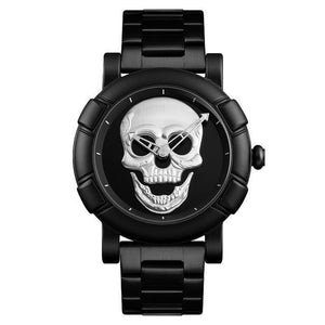 Urbandoks Watch Silver Skull Embossed Wristwatch
