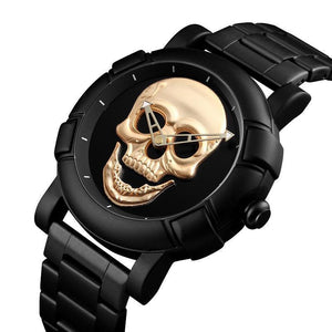Urbandoks Watch Skull Embossed Wristwatch