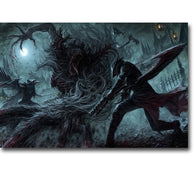 BloodBorne 1 2 Art Silk Poster Print 13x20 24x36 inches Hot Game Wall Pictures for Living Room Decor Raven Master Boss BB010