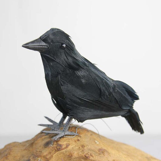 Realistic Crafts Halloween Crow Bird Raven Artificial Prop Feather Party Art