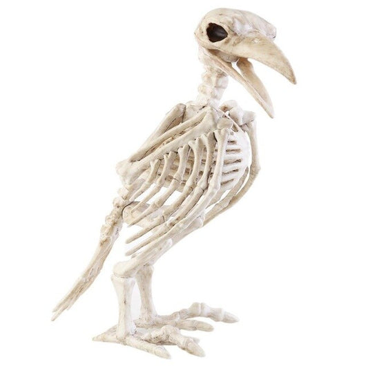 Halloween Crazy Bone Skeleton Raven 100% Plastic Animal Skeleton Bones Horror Halloween Prop Bird Crow Skeleton Decor FES2DED