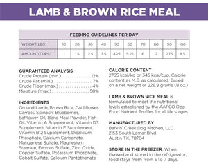 Lamb & Brown Rice Meal