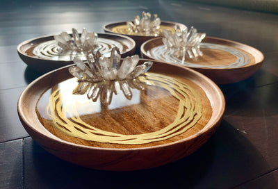 Circular Resin Art Jewellery/Ring Tray - Web Collection - ikigaicreations.ca