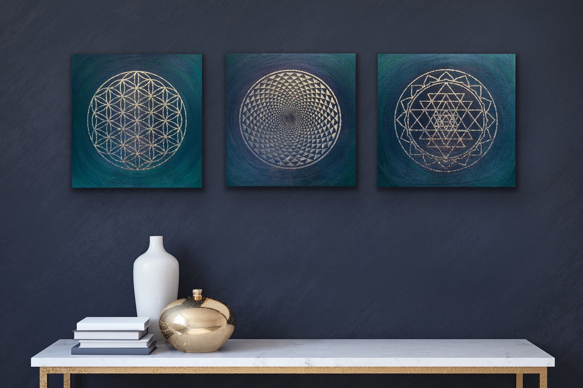 Flower of Life Resin Art - ikigaicreations.ca