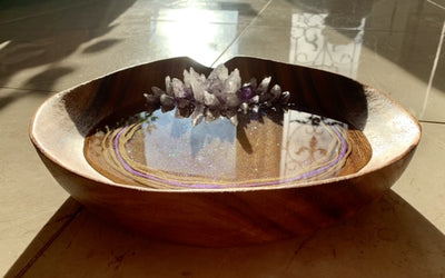Amethyst Crystal Bowl/Tray - ikigaicreations.ca